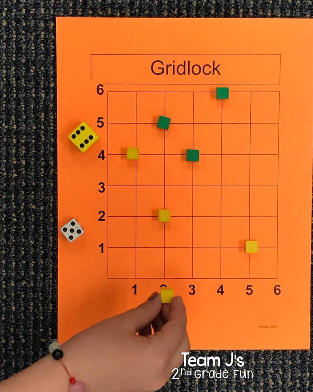 Today We Played The Game Gridlock To Practice Coordinate