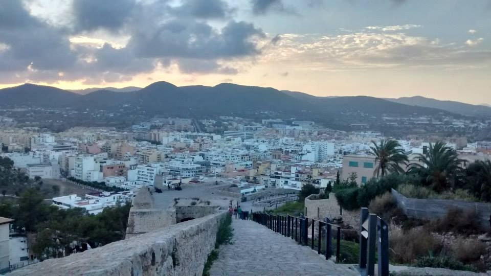 View of the city from Dalt Vila