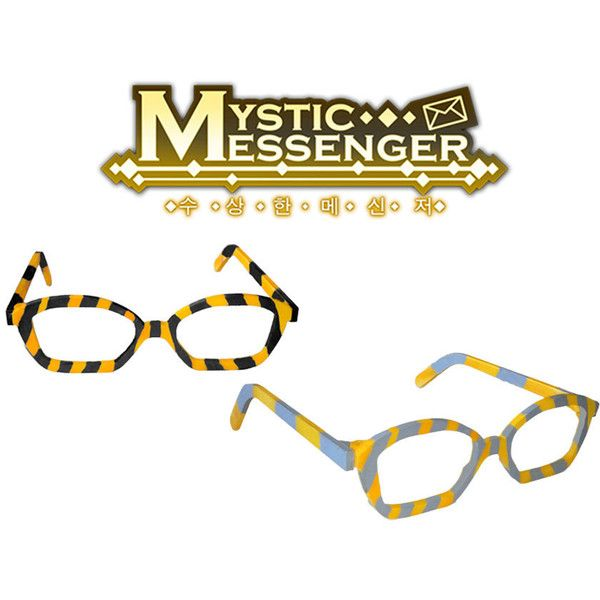 d6ec8e8a5ca Mystic Messenger 707 glasses cosplay prop ( 30) ❤ liked on Polyvore  featuring costumes