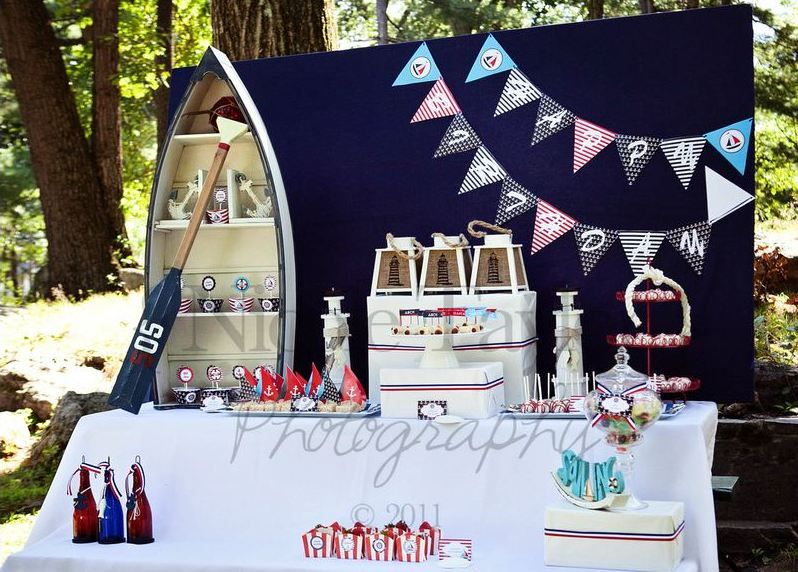 Beautiful Nautical Theme Party Decorating Ideas Part - 12: A Summer Nautical Birthday Party