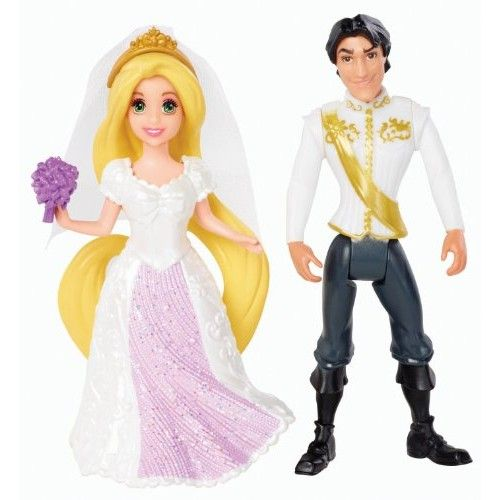 Disney Princess Little Kingdom Magiclip Rapunzel Fairytale Wedding Dolls