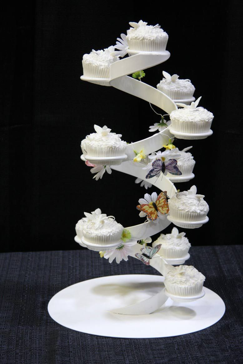 Wedding Cupcakes On A Cute Cake Stand