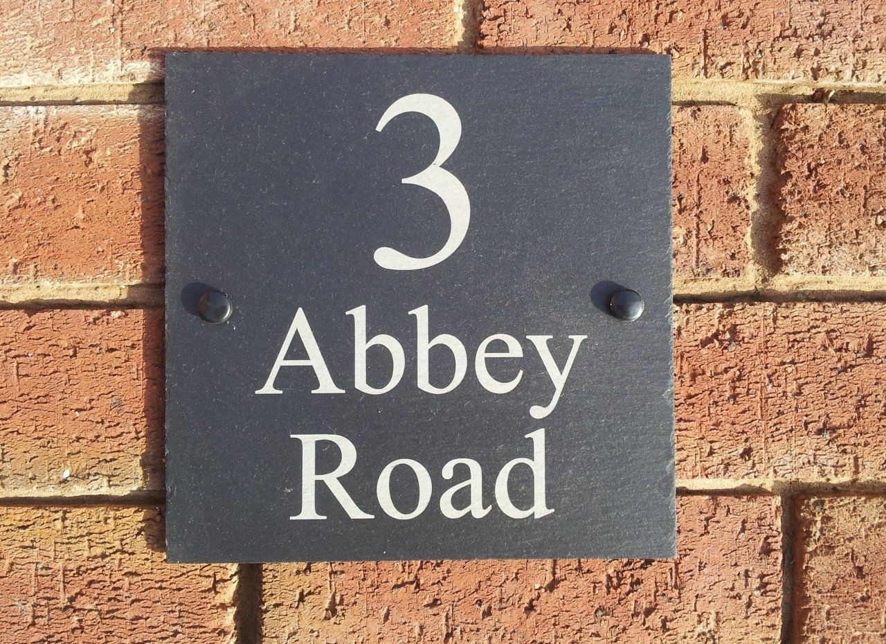 Laser Engraved Inexpensive Slate House Door Signs All Sizes