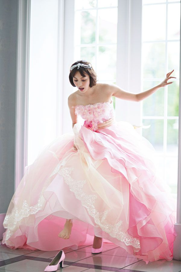 Liliale, ballgown, Wedding, dress, wedding dress, weddingdress, bride, gown, pink.