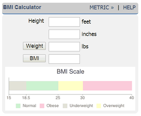 Body Mass Index Bmi Calculator Health And Fitness Pinterest
