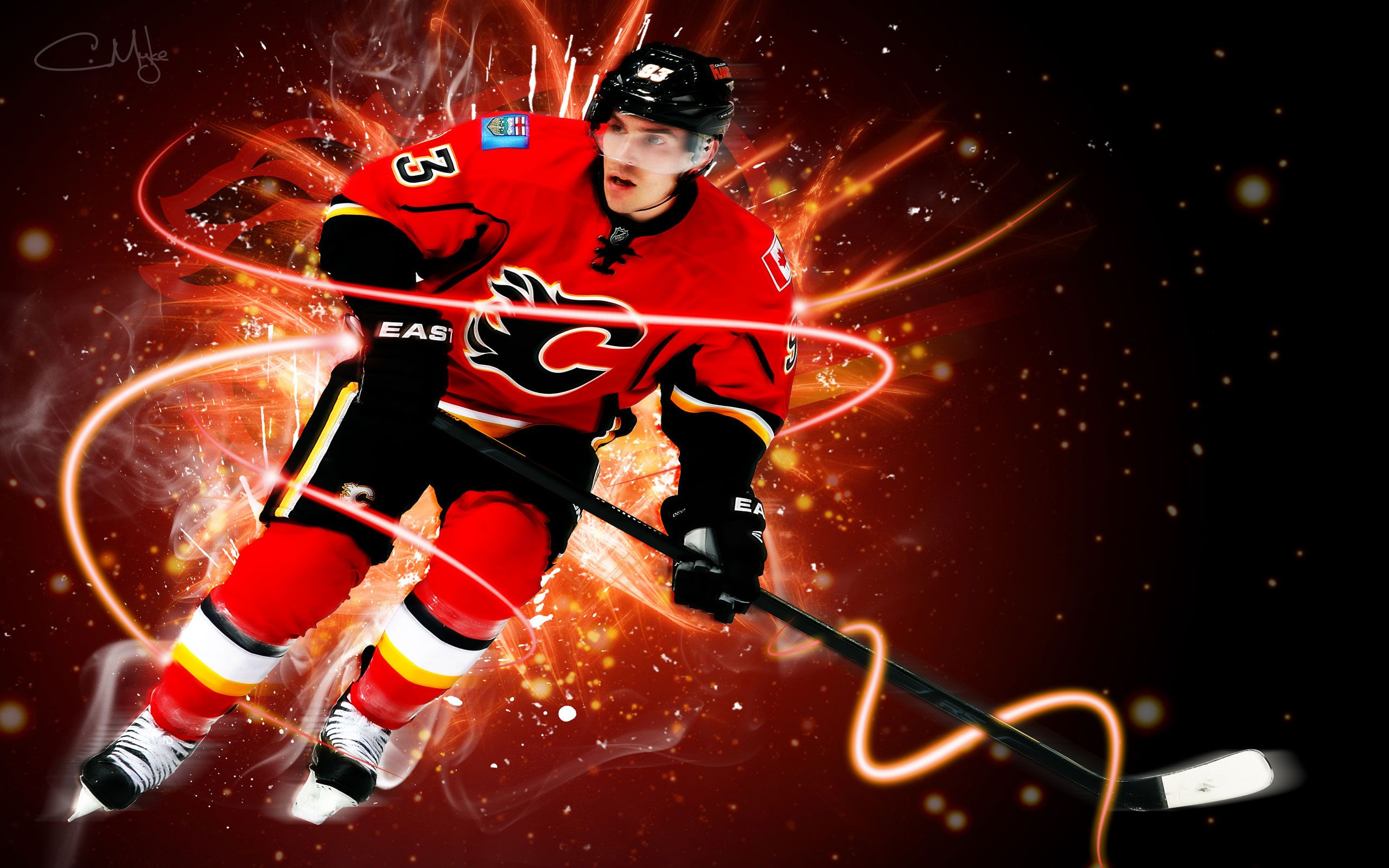 nhl calgary flames ecran wallpaper hd free desktop background