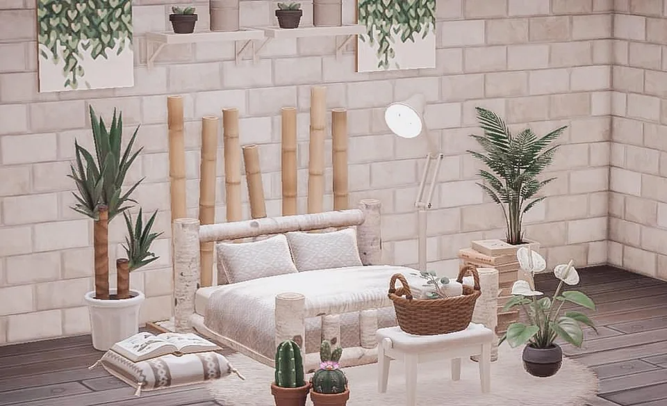 I ve seen the bamboo partition as a headboard before and I thought it was absolutely brilliant My take on it 🌿🧺📖