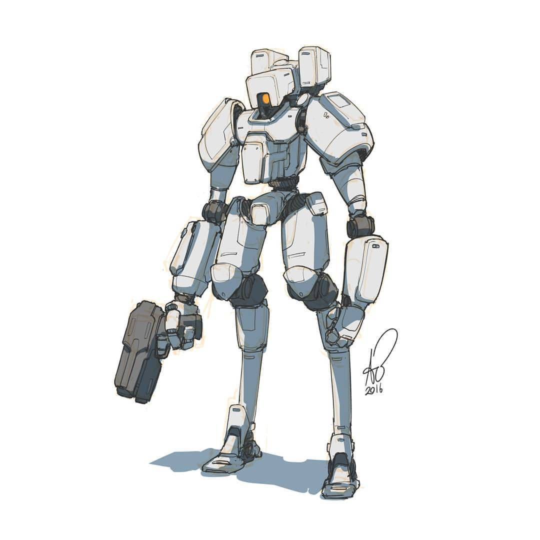 Pin By Giantsforest On Game Design Ideas Robot Concept Art