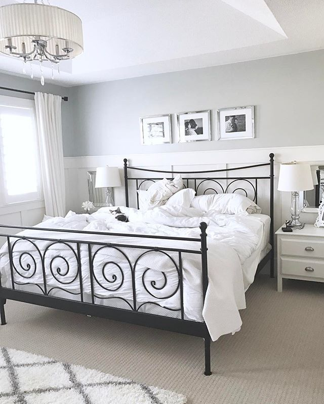 Woke Up With A Headache And Am Currently On The Couch With A Heated Blanket And Trying To Mus Farmhouse Bedroom Decor Bedroom Inspirations Ikea Metal Bed Frame