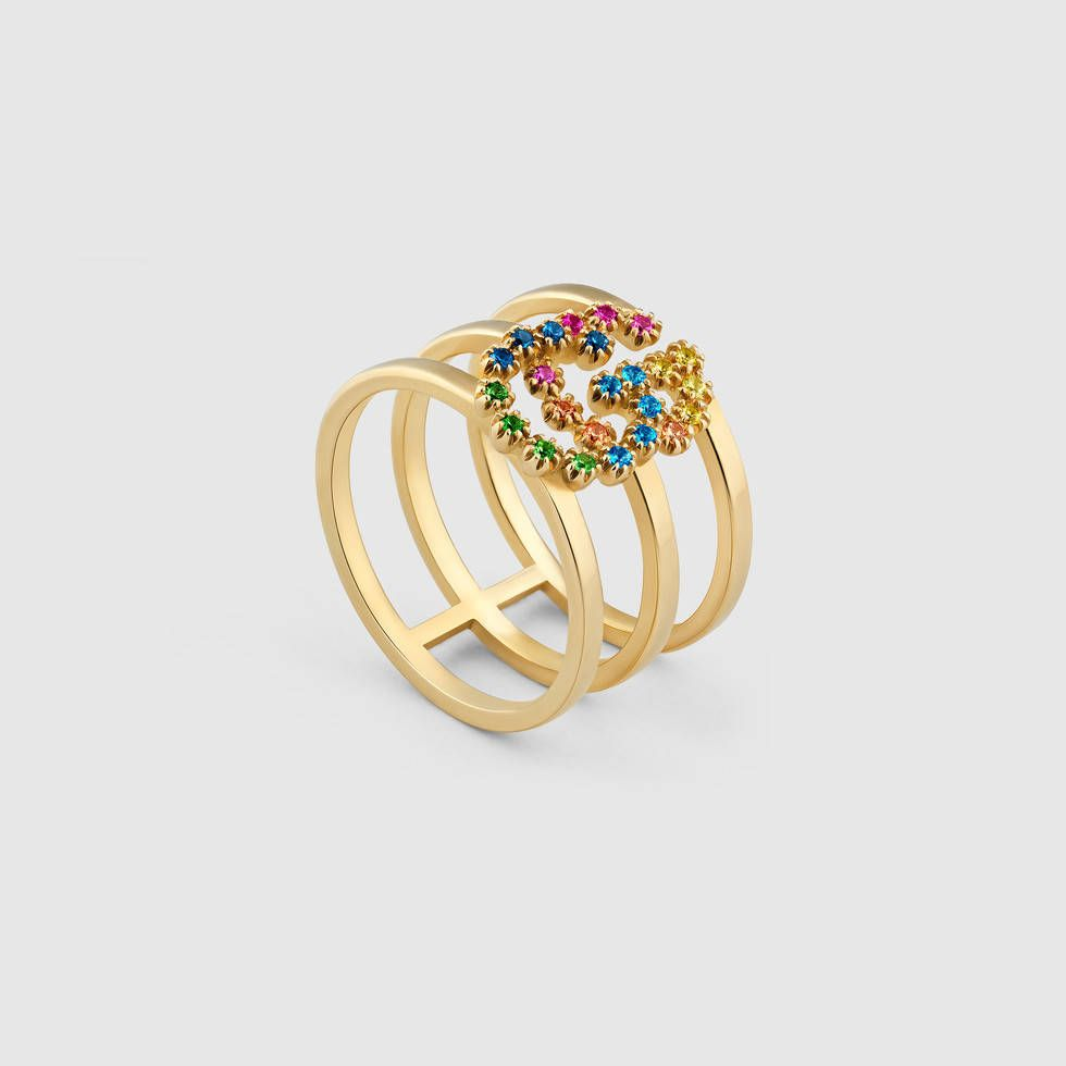 73eb01a98e GG Running ring with multicolor stones | Dear Santa....All That ...