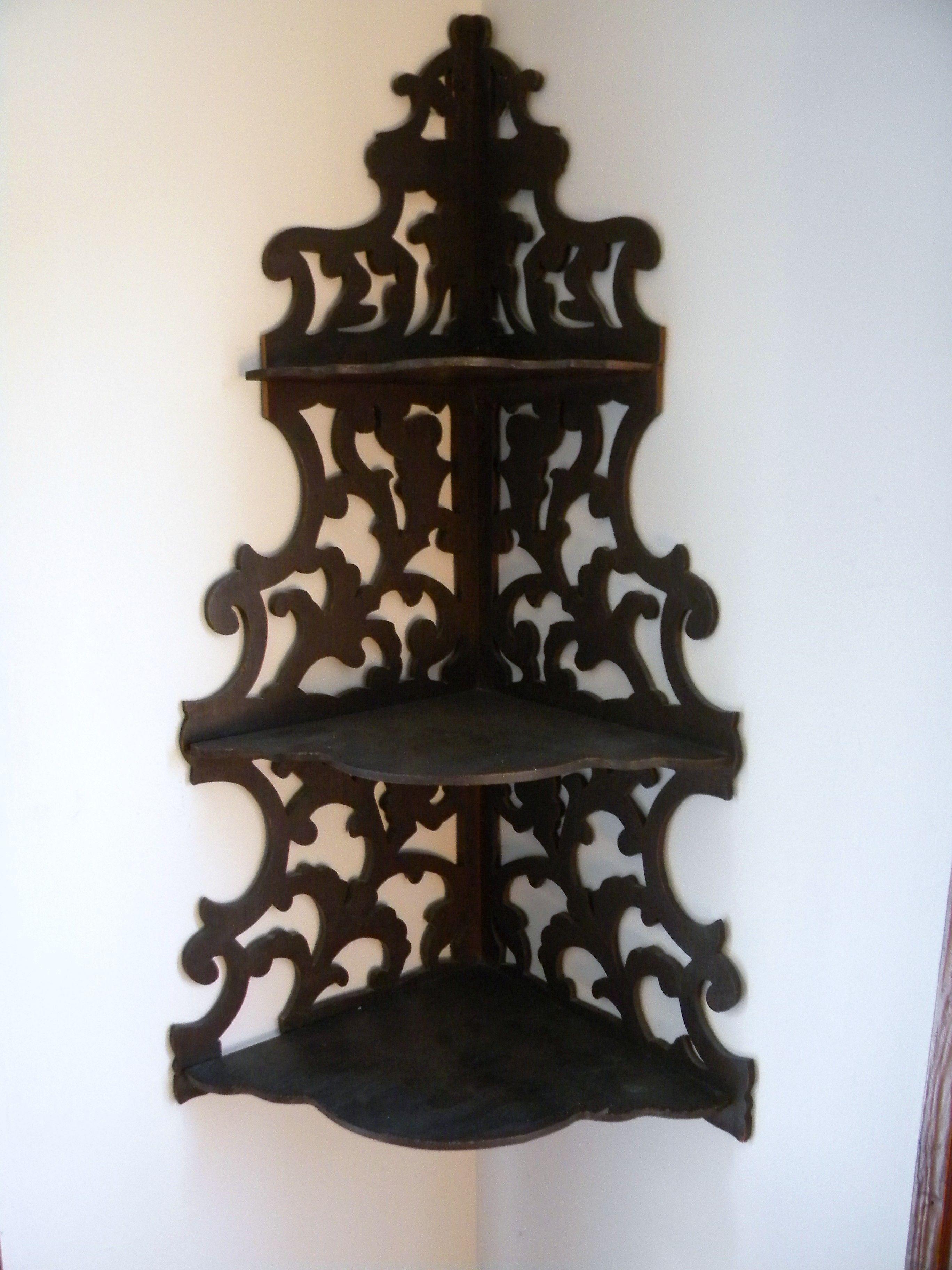 I Love These Antique Corner Shelves Wooden Corner Shelf Corner Shelves Shelves