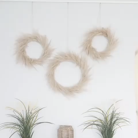 Photo of Pampas grass as decoration: DIY wreath