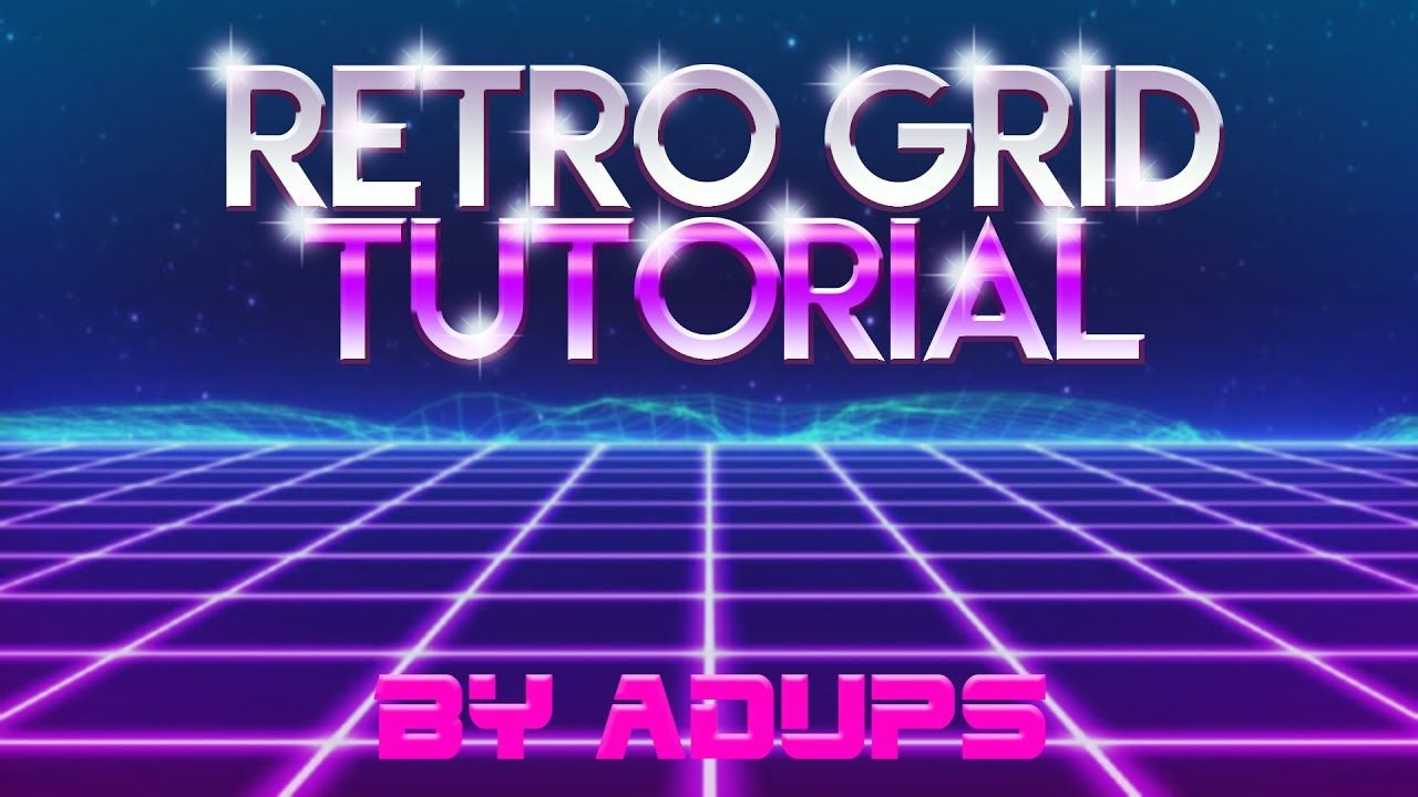 retrowave/synthwave animated grid tutorial [free project dl in desc