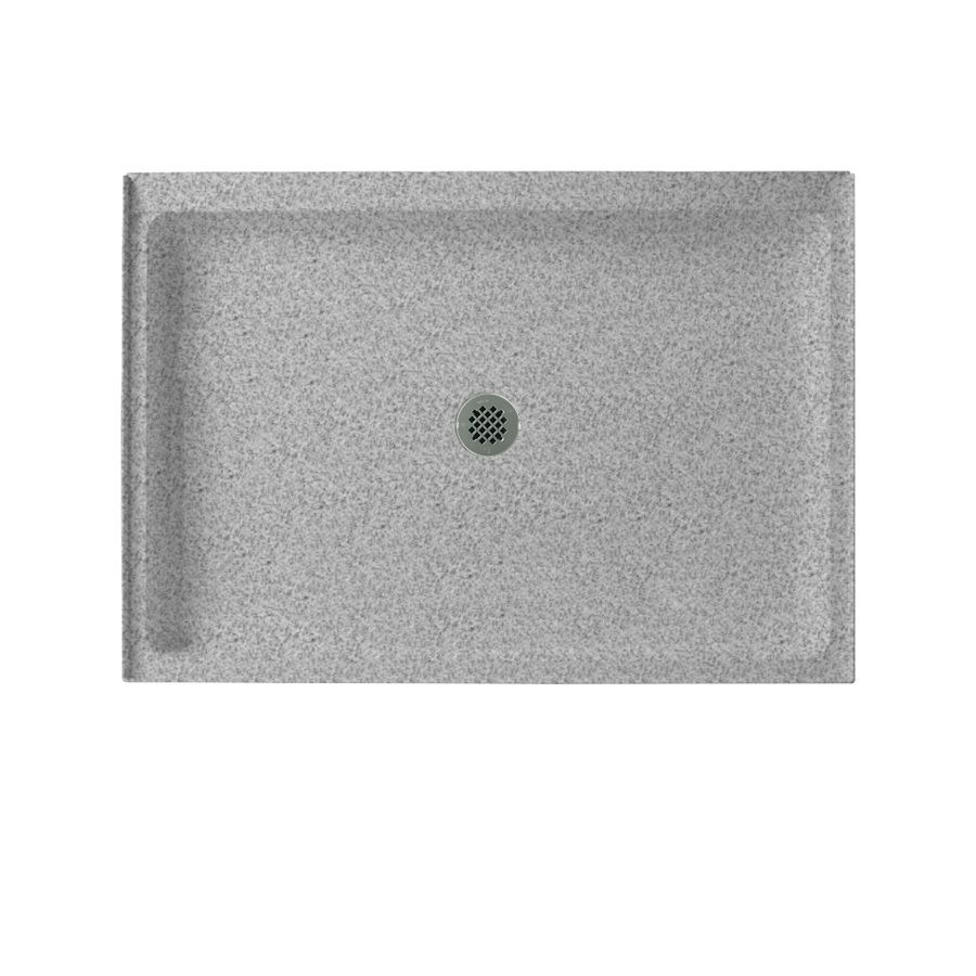 Swanstone Gray Granite Solid Surface Shower Base Common 34 In W