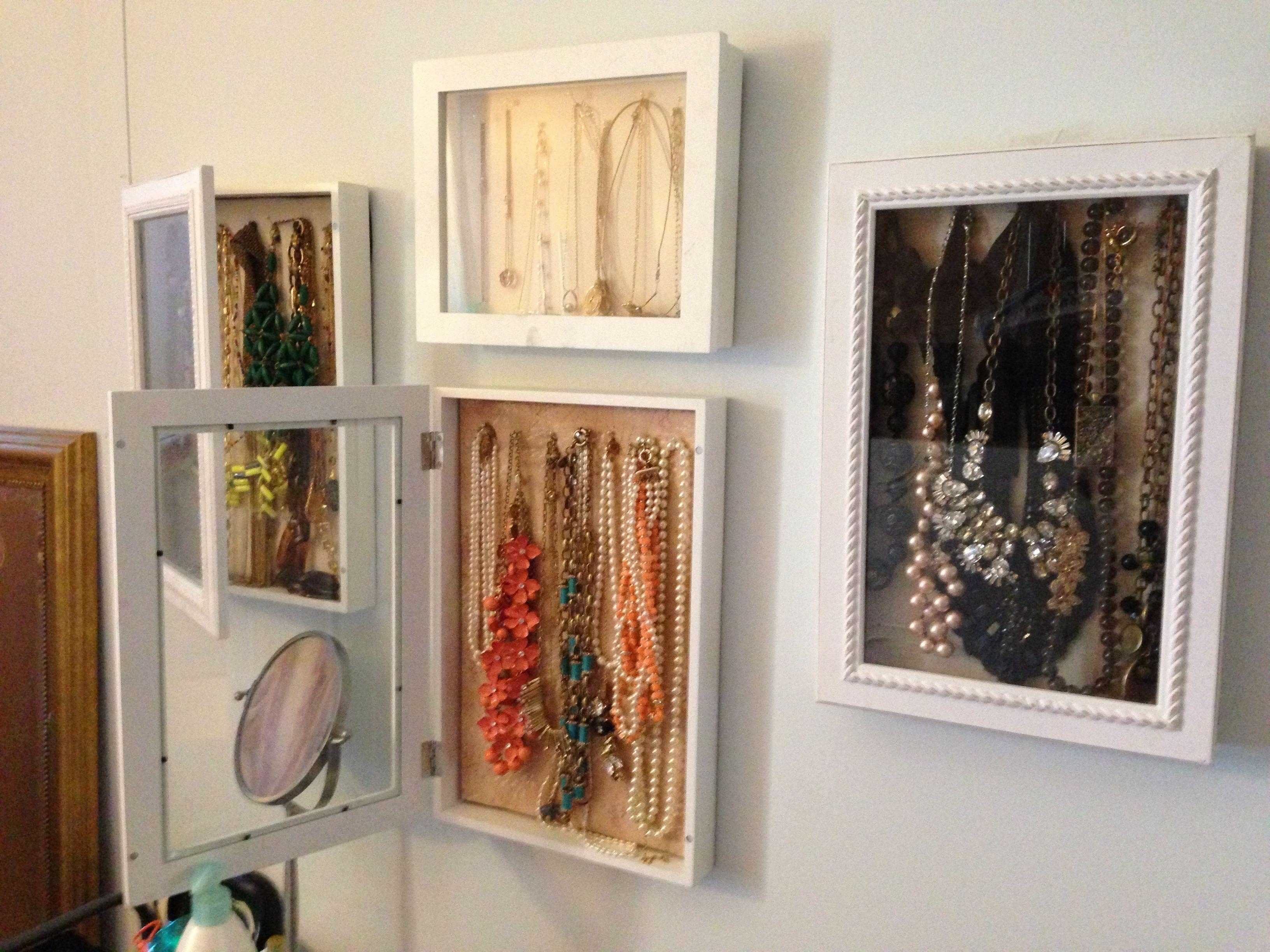 Diy Jewelry Storage Displays Hinged Shadow Box Frames Found At Tj