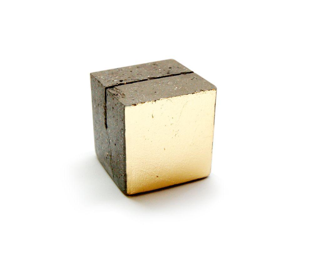 Gold leaf concrete.