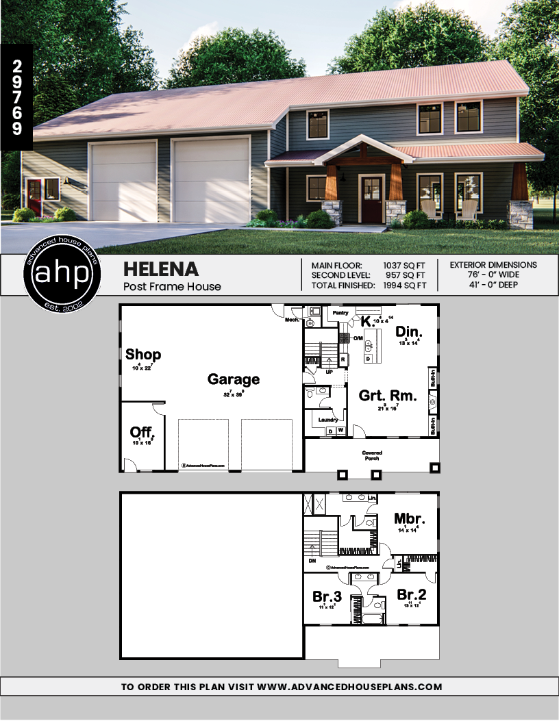 Post Frame Home Barndominium Plan Helena Metal House Plans Barn House Plans Pole Barn House Plans