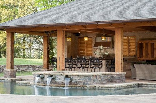 Rustic Pool House in Mississippi swimming pool Pinterest