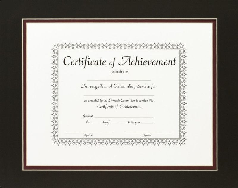 Double Document Frame Document Frame Frame Certificate Frames