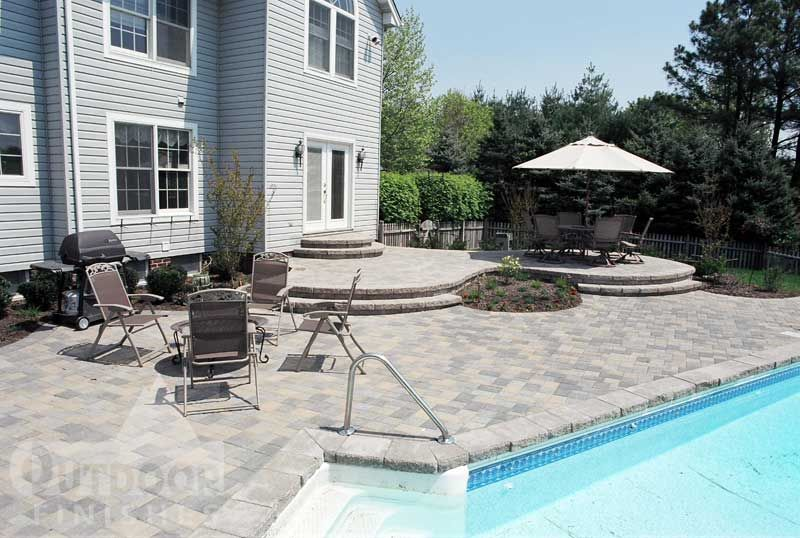 Grey Pool Deck Pavers Pavers Around Pool Home Ideas Pinterest Pools Concrete Pavers And