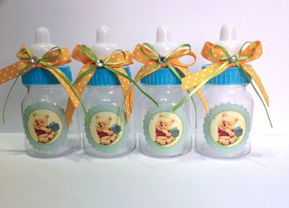 12 Small 35 Winnie The Pooh Baby Shower Favors Baby Candy Bottles