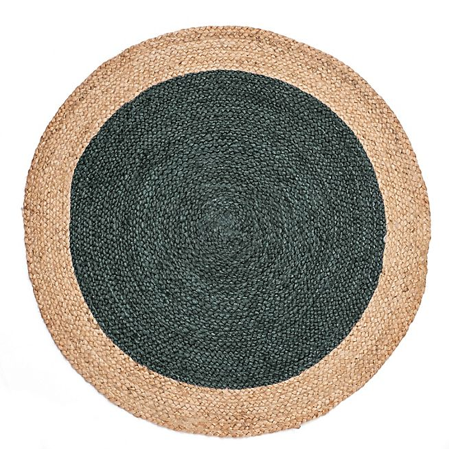 tapis rond en jute vert alinea brigitte place. Black Bedroom Furniture Sets. Home Design Ideas