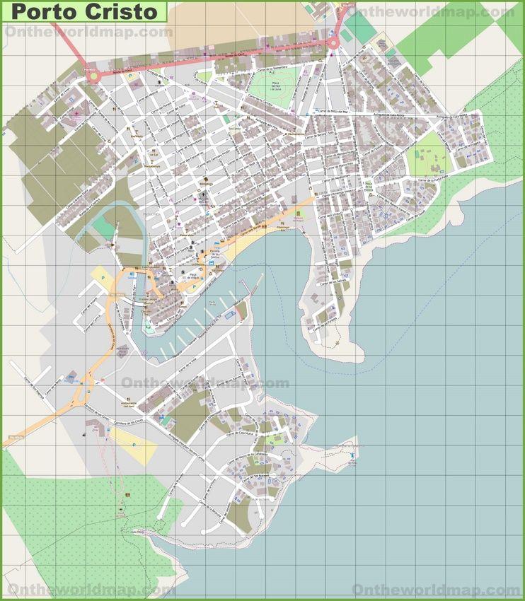 Large Detailed Map Of Porto Cristo Detailed Map Map Porto