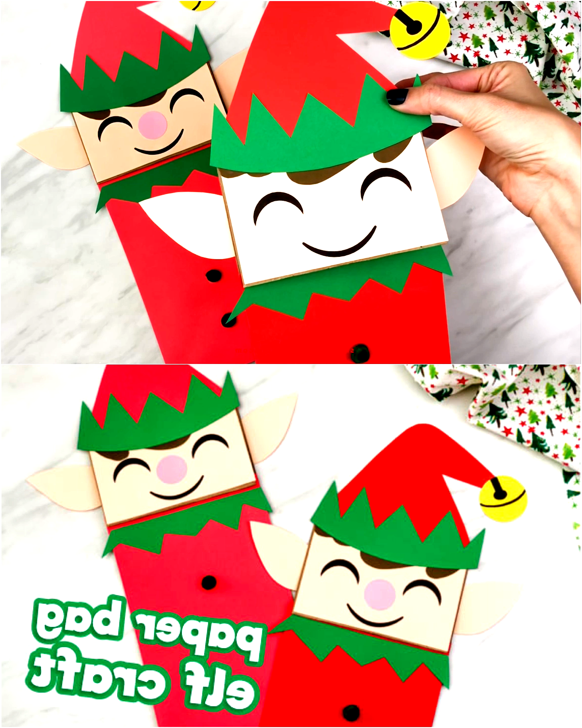 Make this cute and easy paper bag elf puppet this Christmas season! Its a fun Xmas craft that comes