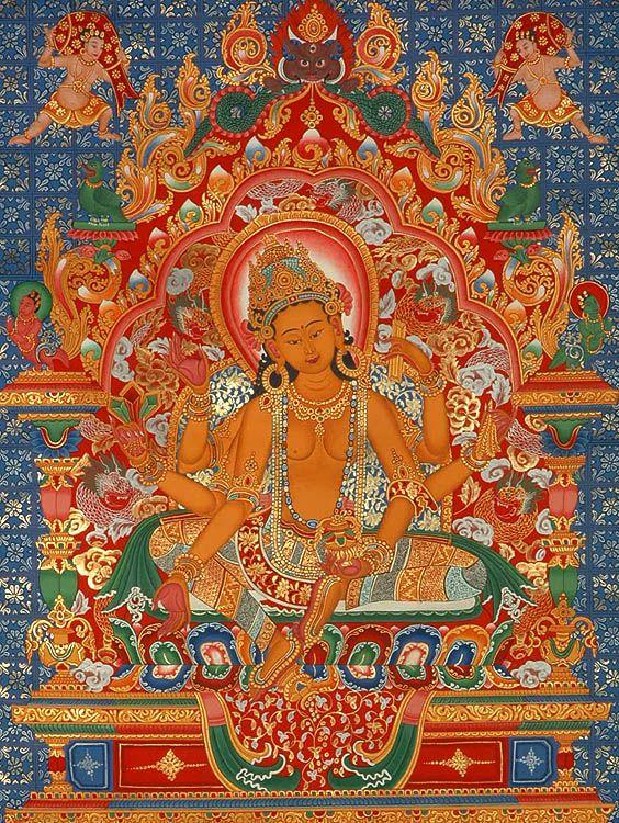 Vasudhara, Goddess of good luck and wisdom | Буддийское искусство, Богини,  Буддизм