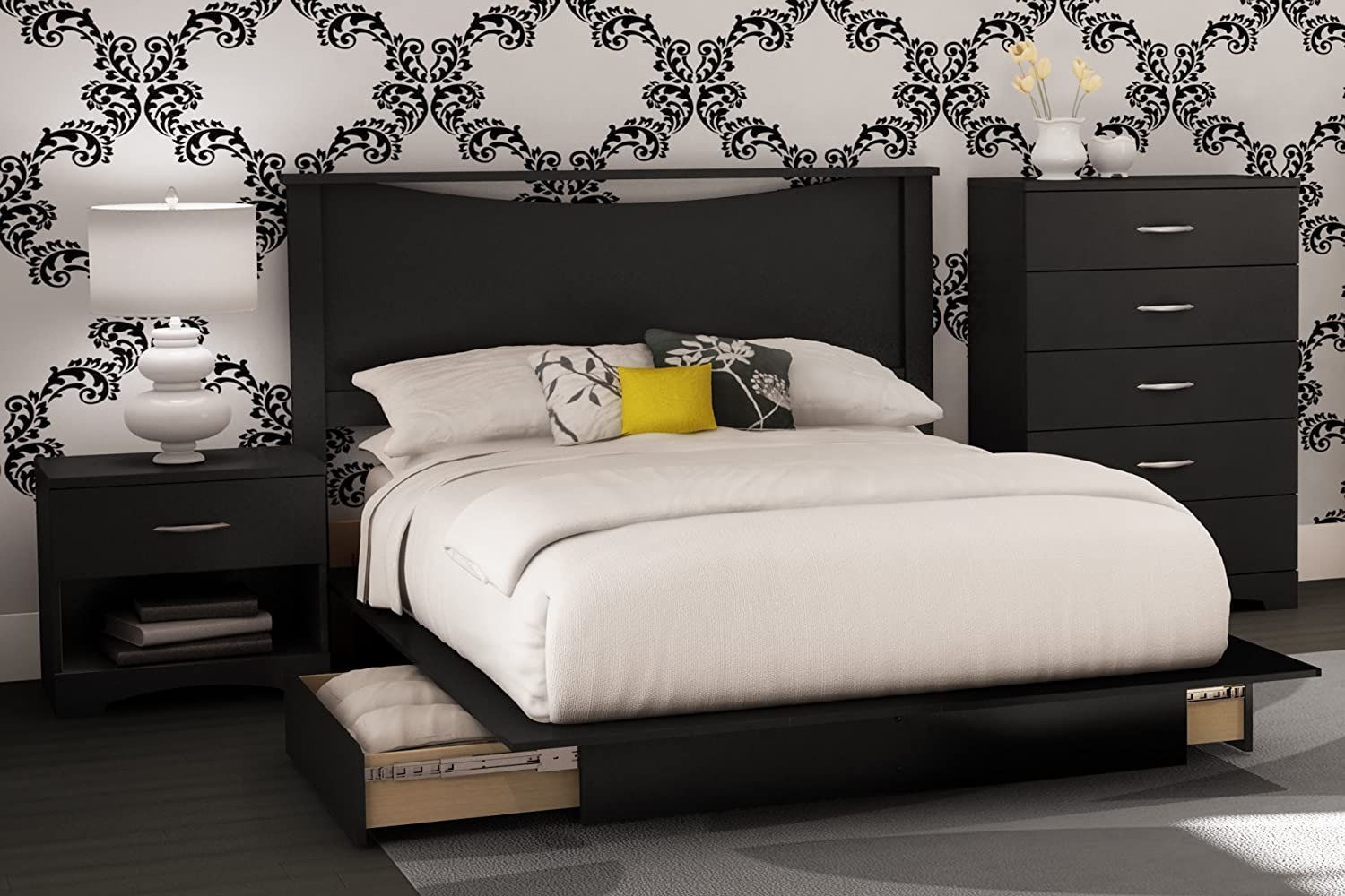South Shore Bedroom Set South Shore Bedroom Set Step E Collection Black 4 Piece Small Bedroom Furniture Bedroom Furniture Sets Bedroom Set Designs South shore bedroom furniture