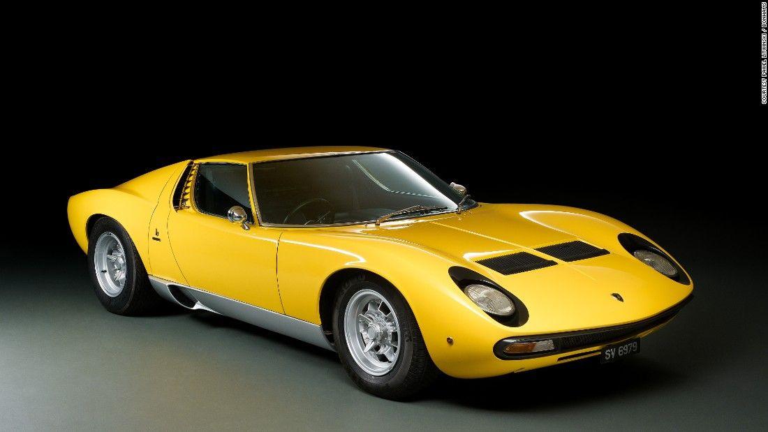 The 1972 Lamborghini Miura, the world's first supercar.