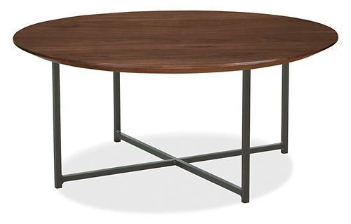 Classic Cocktail Tables in Natural Steel - Cocktail Tables - Living - Room & Board  $639 - solid walnut
