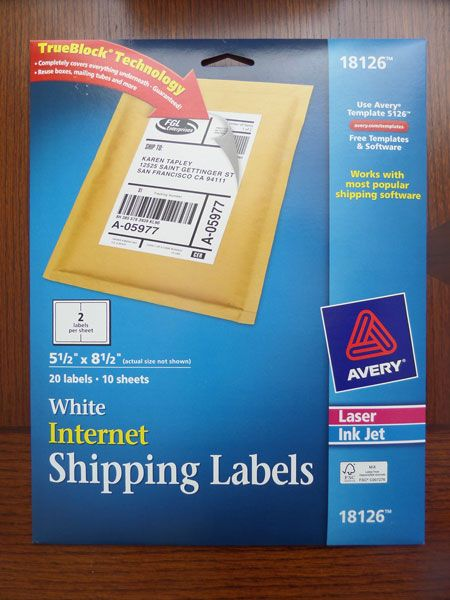 I bought these, but didn't need too  | Ebay | Shipping label