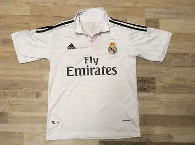 Adidas Women s REAL MADRID Fly Emirates Jersey Climacool White And Pink  Size L  42989c3074