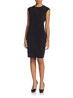 CALVIN KLEIN Beaded Sheath Dress. #calvinklein #cloth #dress