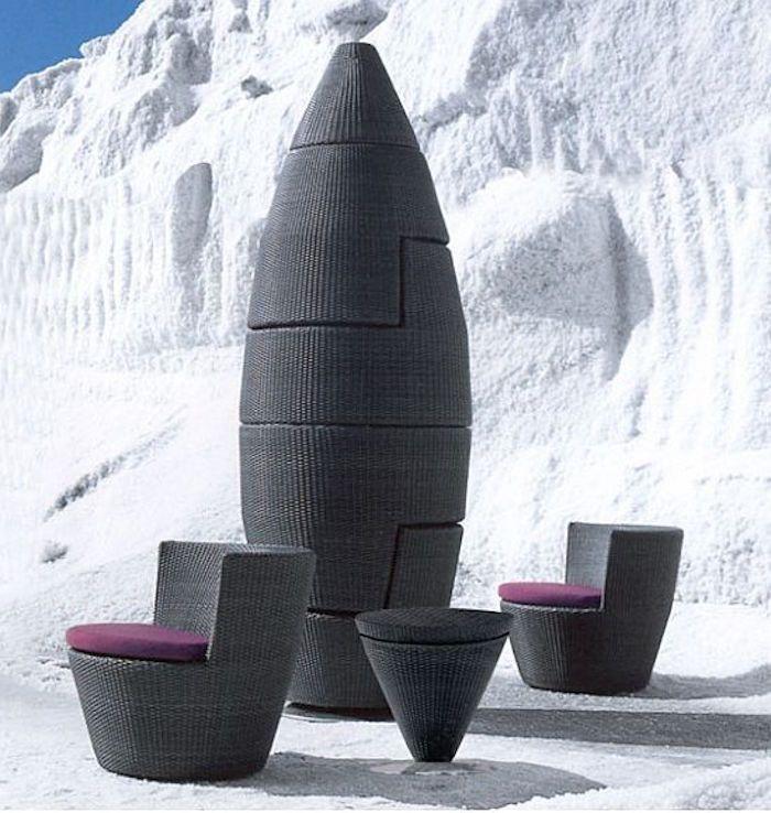 Salon de JARDIN tressé | Contemporary home furniture, Space ...