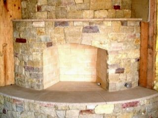 Arched And Curved Masonry Hearth Ready For A Fireplace Door Curved Fireplace Fireplace Fireplace Remodel