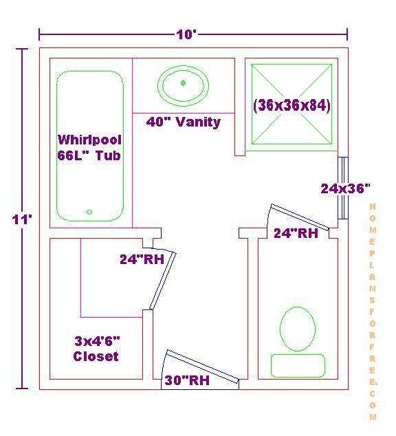 Bathroom design floor plan ideas best home design 2018 for 9 x 11 bathroom design