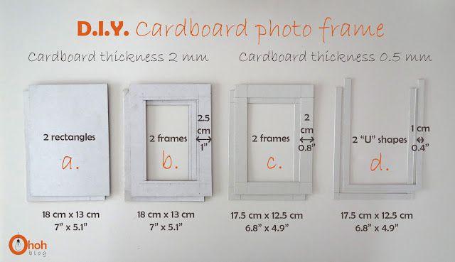 DIY Cardboard photo frame | DIY | Pinterest | Diy cardboard, DIY and ...