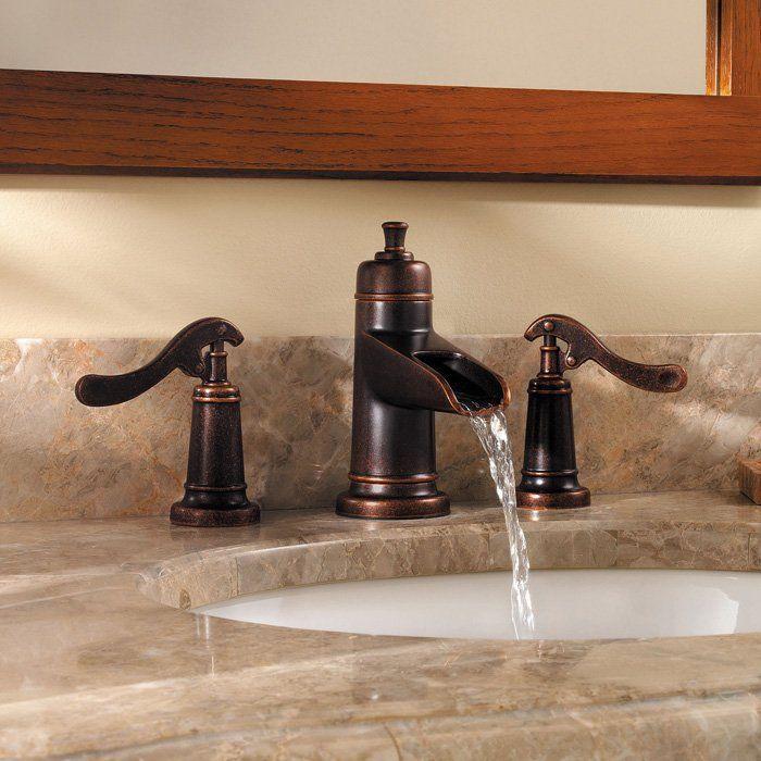 widespread bathroom faucet waterfall bronze | Pfister GT49-YP1U ...