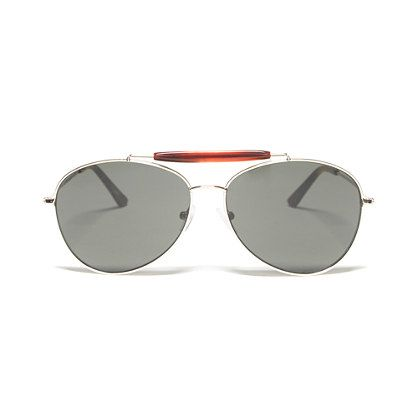 Top-Bar Aviator Sunglasses