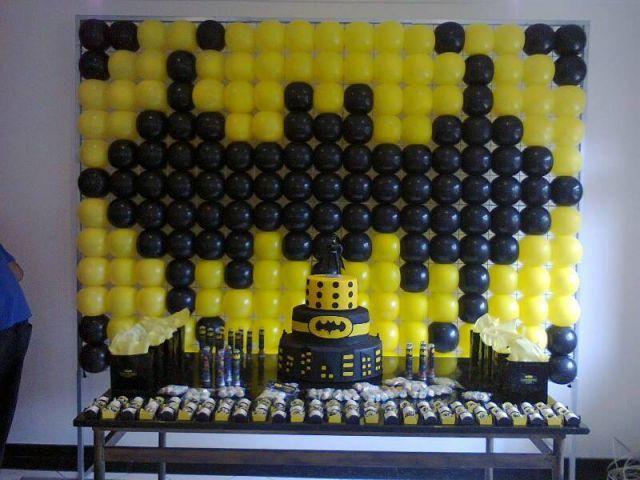 Painel Balões Batman Pared De Globos Balloon Decorations