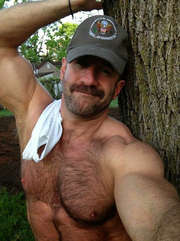 Hairy military men