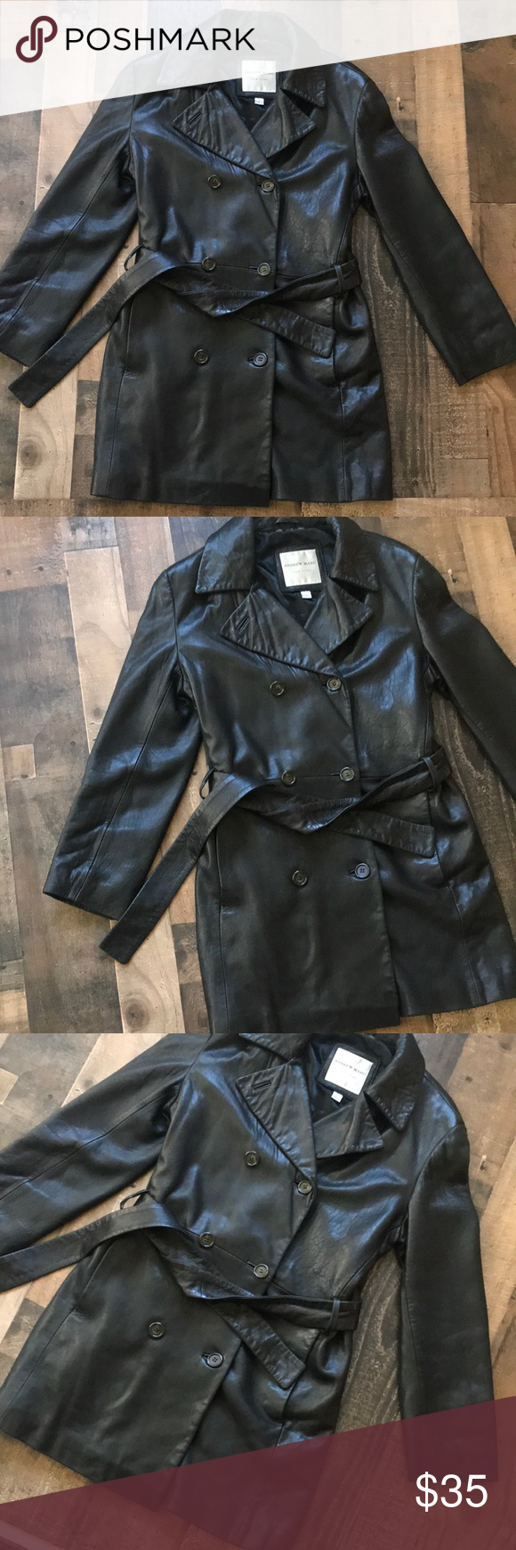 ANDREW MARC Leather jacket coat