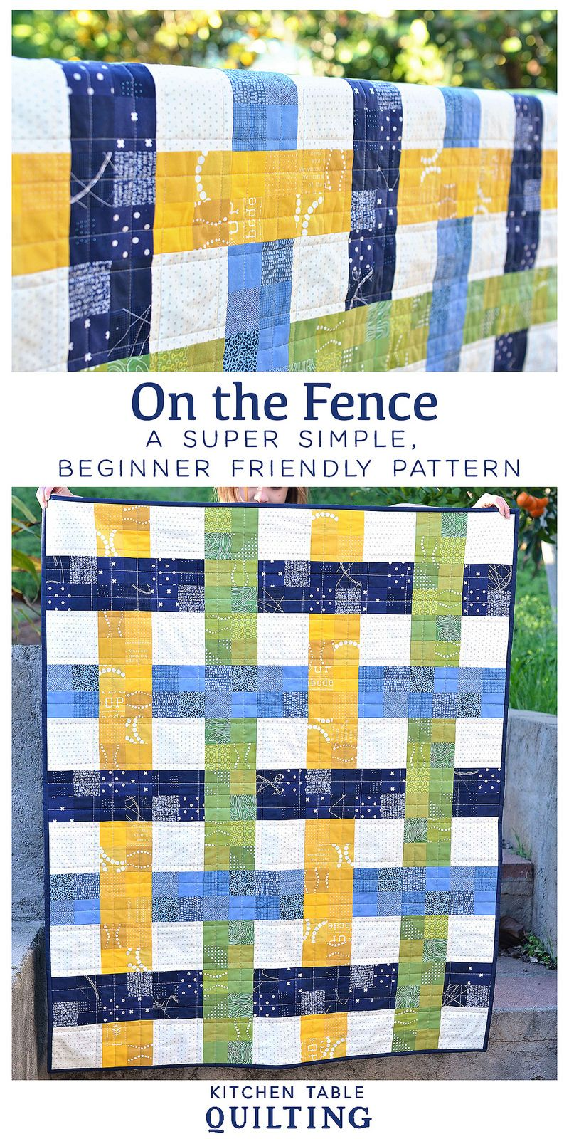 Woven Baby Quilt - On the Fence Quilt Pattern | Muster, Patchwork ...