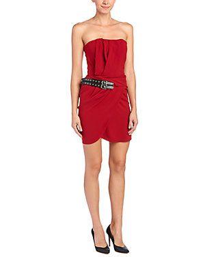The Kooples Leather Buckle Bustier Dress