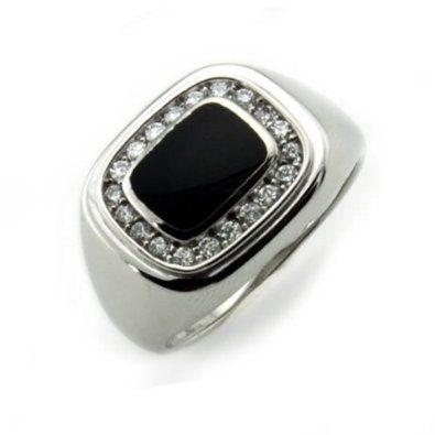 Sterling Silver Men's Ring w/ Onyx - Available Size: 8, 8.5, 9, 9.5, 10, 10.5, 11, 11.5, 12, 12.5, 13, 13.5 --- http://www.amazon.com/Sterling-Silver-Mens-Ring-Available/dp/B00570DM62/ref=sr_1_13/?tag=wwwfastlane07-20