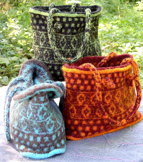 pattern to knit fairisle bags from Ravelry