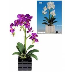 Orquidea phalaenopsis artificial con maceta