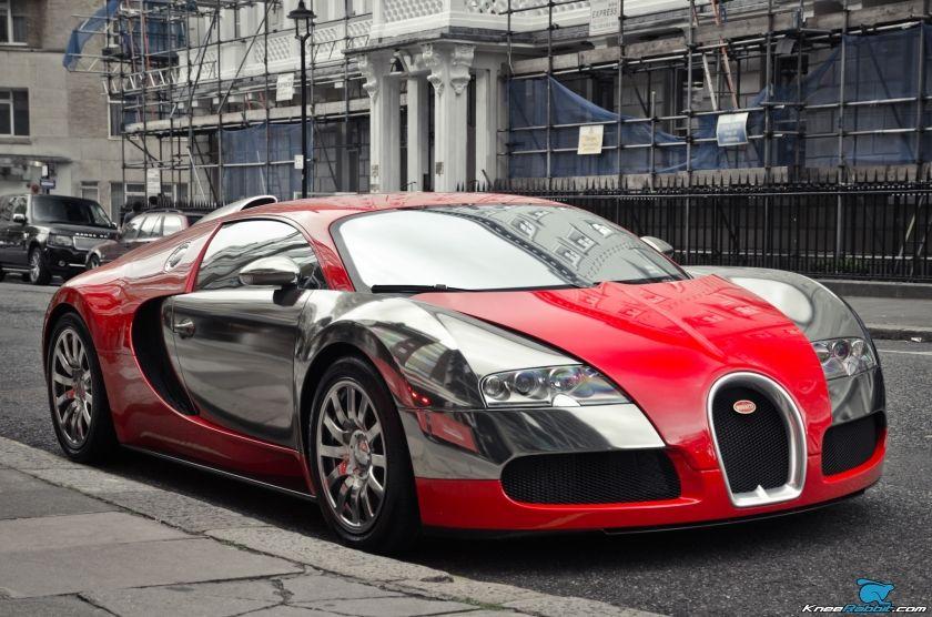 Red Chrome Bugatti Veyron Bugatti Veyron Bugatti Classic Car Insurance